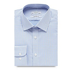 J by Jasper Conran - Designer light blue textured gingham tailored shirt