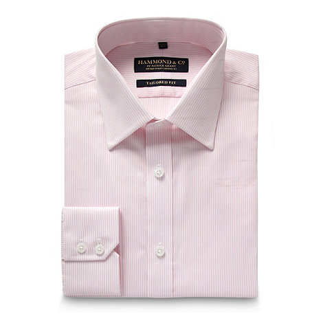 Hammond & Co. by Patrick Grant - Designer pink striped tailored fit shirt