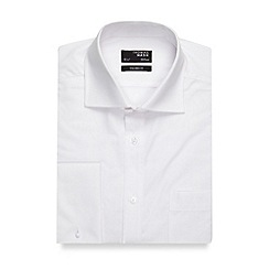 Thomas Nash - Big and tall white plain tailored fit shirt