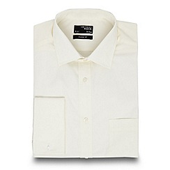 Thomas Nash - Big and tall cream regular fit shirt