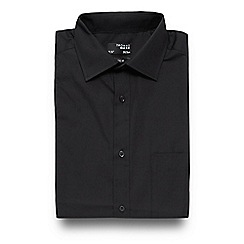 Thomas Nash - Big and tall black plain regular fit shirt
