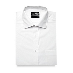 Thomas Nash - Big and tall white plain regular fit shirt