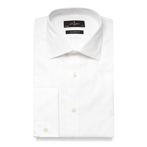 Jeff Banks - Designer white plain poplin extra long sleeve and body shirt