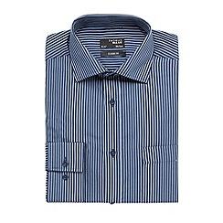 Thomas Nash - Navy striped regular fit shirt