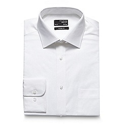 Thomas Nash - Big and tall white long sleeve regular fit oxford shirt