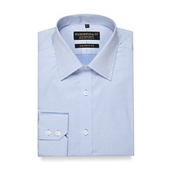Hammond & Co. by Patrick Grant - Big and tall designer light blue fine twill tailored fit shirt