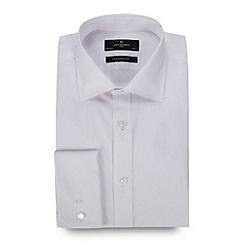 Jeff Banks - Designer white tailored fit fine herringbone shirt