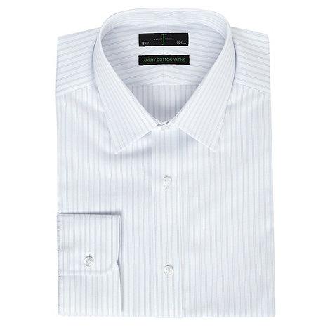 J by Jasper Conran - Big and tall blue fine striped long sleeve shirt
