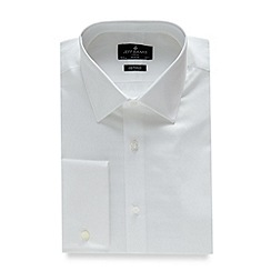 Jeff Banks - White tailored shirt with extra-long sleeves and body
