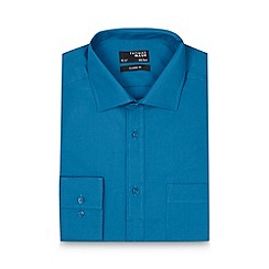 Thomas Nash - Dark turquoise plain regular shirt