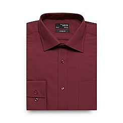 Thomas Nash - Big and tall maroon regular fit shirt