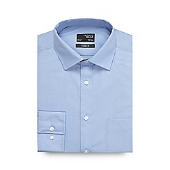 Thomas Nash - Big and tall light blue plain regular fit shirt