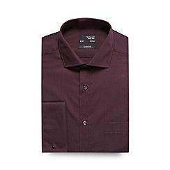 Thomas Nash - Wine plain regular fit shirt