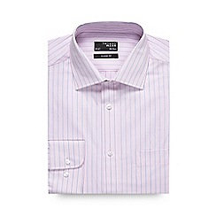 Thomas Nash - Light pink fine stripe regular fit shirt