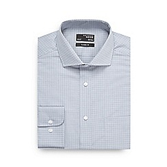Thomas Nash - Big and tall grey grid checked shirt