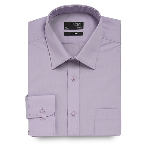 Thomas Nash - Big and tall lilac ultimate plain shirt