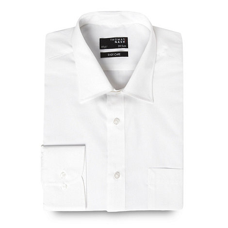 Thomas Nash - Big and tall white ultimate plain shirt