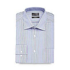Thomas Nash - Blue multi striped regular shirt