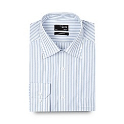 Thomas Nash - Big and tall light blue bold striped regular fit shirt
