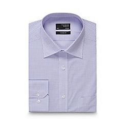 Thomas Nash - Big and tall blue checked regular fit shirt