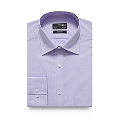 Thomas Nash - Big and tall lilac fine textured regular fit shirt