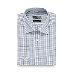 Thomas Nash - Big and tall grey gingham checked regular fit shirt