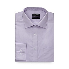 Thomas Nash - Lilac plain extra long regular fit shirt