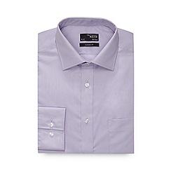 Thomas Nash - Lilac plain extra long regular fit shirt