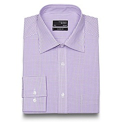 Thomas Nash - Lilac gingham regular fit shirt