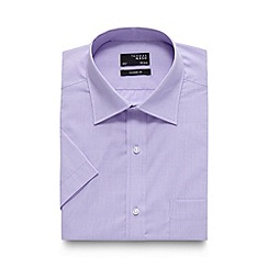 Thomas Nash - Lilac fine textured regular shirt