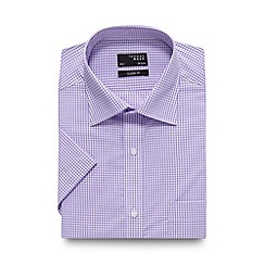 Thomas Nash - Lilac mini gingham checked regular shirt