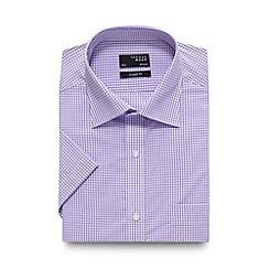 Thomas Nash - Lilac mini gingham checked regular shirt