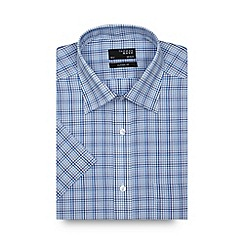 Thomas Nash - Blue tonal checked regular shirt
