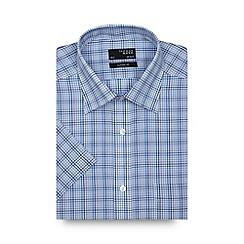 Thomas Nash - Blue tonal checked regular shirt