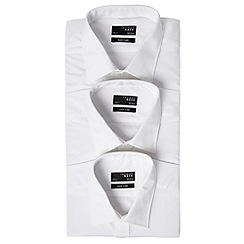 Thomas Nash - Big and tall white plain classic fit triple pack
