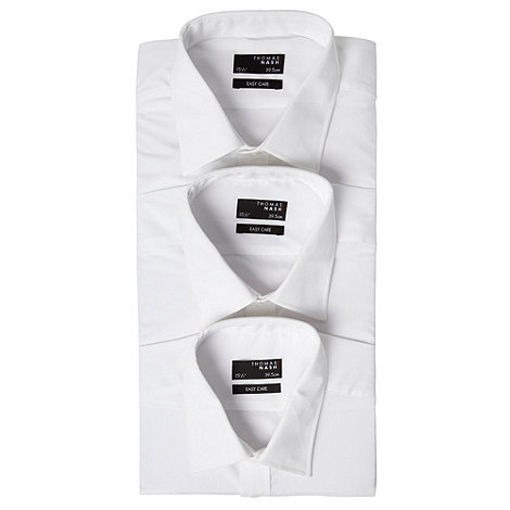Thomas Nash - White plain classic fit triple pack
