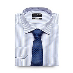 Thomas Nash - Light blue striped shirt and tie set