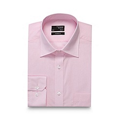 Thomas Nash - Pink fine striped regular fit shirt