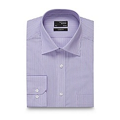 Thomas Nash - Big and tall lilac tonal striped regular fit shirt