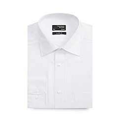 Thomas Nash - White self stripe long sleeve shirt