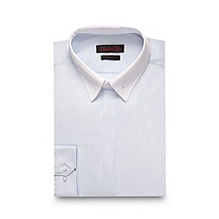 Red Herring - Pale blue bar slim fit shirt