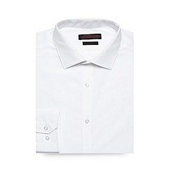Red Herring - Big and tall white plain slim fit shirt