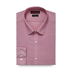 Red Herring - Red fine striped slim fit shirt