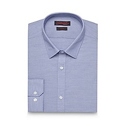 Red Herring - Blue fine horizontal striped slim fit shirt