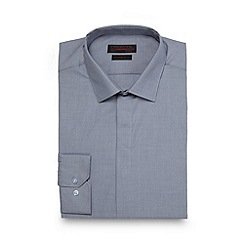 Red Herring - Grey plain slim fit shirt