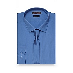 Red Herring - Big and tall pale blue slim fit cotton shirt and tie