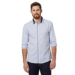 Red Herring - Light blue birdseye slim fit shirt