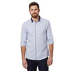 Red Herring - Light blue birdseye slim fit shirt