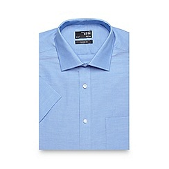 Thomas Nash - Blue plain regular fit oxford shirt