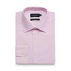 Osborne - Big and tall pink textured stripe tailored shirt